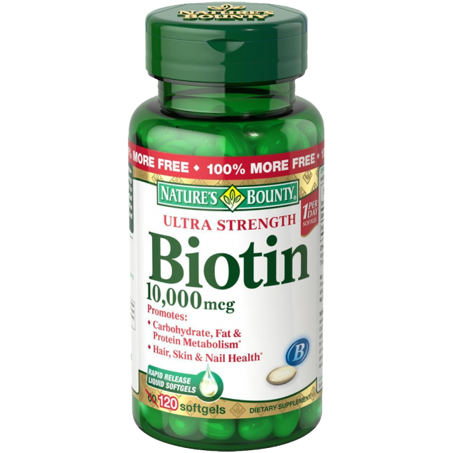 Nature's Bounty Biotin 10000 MCG Softgels